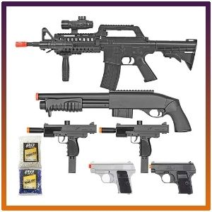 BBTac pistol package airsoft  powerful rifle, Shotgun two products mini pistols with BB.