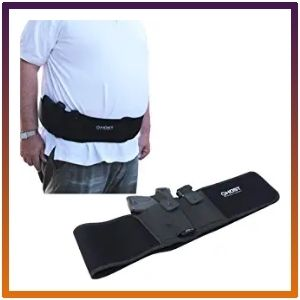 Ghost belly band holder for concealed storage gun holsters.