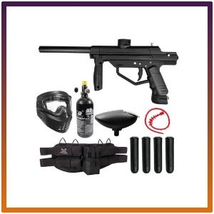 Maddog JT Stealth Semi-Automatic .68 Caliber Silver Paintball Gun Starter Package