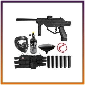 Maddog JT Stealth Semi-Automatic .68 Caliber Titanium Paintball Gun Starter Package