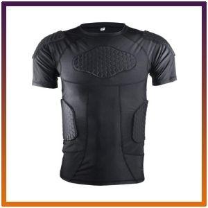 Men's Padded Compression Set Protector Shirt<br />