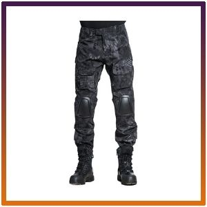 SINAIRSOFT Tactical Pants Shirt with Knee Pads