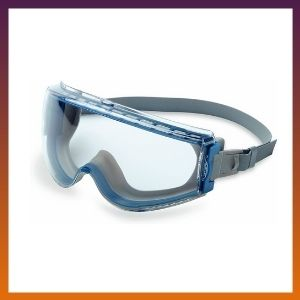 Uvex Stealth Safety Goggles with Clear Uvextreme Anti-Fog Lens