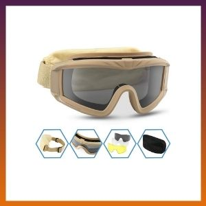 XAegis Airsoft Goggles, Tactical Safety Goggles Anti Fog Military Glasses